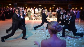 These Groomsmen Surprised A Bride With An Unreal Dance-Off Medley