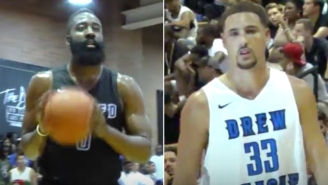 Watch James Harden And Klay Thompson Duel At The Drew League