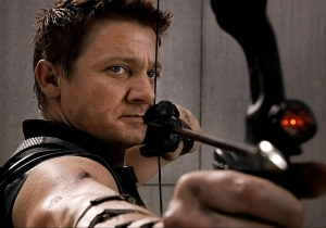 Hawkeye debuts new duds and a little friend for 'Captain America: Civil War'