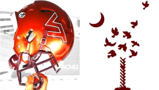 Virginia Tech And South Carolina Are Honoring Mass Shooting Victims With These Helmet Patches