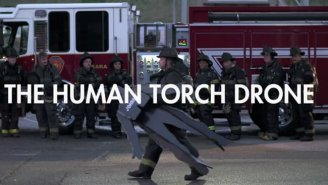 Johnny Storm From The 'Fantastic Four' Comes To Life In 'The Human Torch Drone' Video