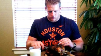Here's A Look At J.J. Watt's Massive 9,000-Calorie Diet