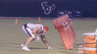 This Video Of J.J. Watt Working Out To The 'Karate Kid' Theme Music Is Fantastic