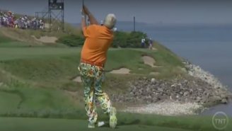 John Daly Puts Three-Consecutive Balls In The Water, Promptly Throws His Club Into Lake Michigan