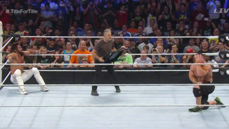 Jon Stewart And His Steel Chair 'Eviscerated' The SummerSlam Title Vs. Title Match
