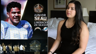 Watch The Powerful Hall Of Fame Speech Junior Seau's Daughter Wasn't Allowed To Give