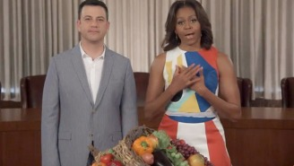 Michelle Obama Enlisted Jimmy Kimmel's Help To Teach Kids To 'Eat Their Effin Vees'