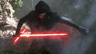 [REDACTED] ignites their lightsaber to fight Kylo Ren in new 'Star Wars: The Force Awakens' footage