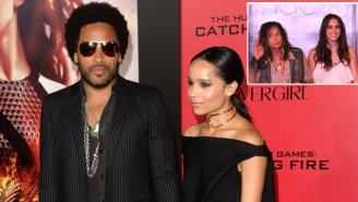 Lenny Kravitz & Steven Tyler's Daughters Taunt Their Dads For Texting About #Penisgate