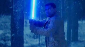'Star Wars: The Force Awakens' Why does Finn have Anakin's lightsaber?
