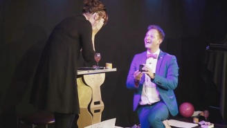 Watch This Magician Adorably Propose To His Girlfriend With An Onstage Magic Trick