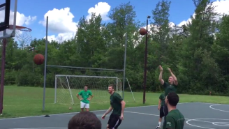 Matt Bonner And Brian Scalabrine Played The Knockout Game You've Always Wanted