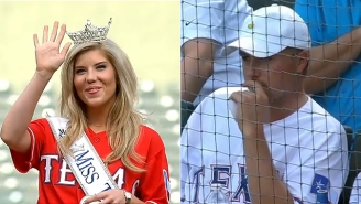 Watch Miss Texas Rap At A Rangers Game And Ask Jordan Spieth To Call Her