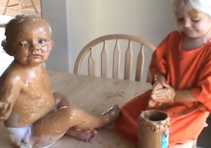 This Peanut Butter Artist Illustrates Why Leaving Kids Alone Is A Disastrous Idea