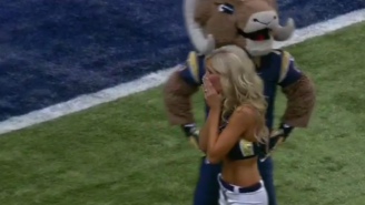 A Rams Cheerleader Was Surprised By Her Military Husband Before A Preseason Game