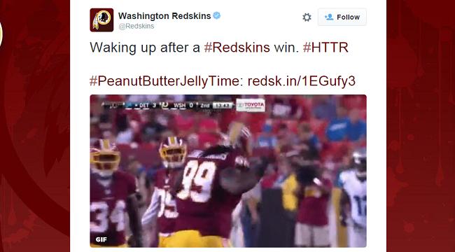 redskins dumb tweet