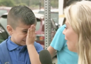 Watch This Heartless Reporter Make A Little Boy Cry On His First Day Of School