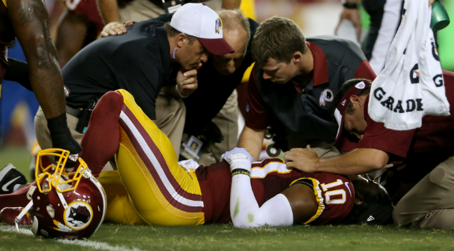 3d320da6 The Redskins Twitter Was Tone Deaf The Morning After RGIII's Injury