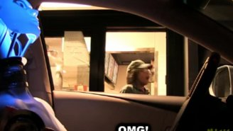 Watch As Fast Food Workers Get Spooked By The 'Drive-Thru Robot Driver Prank'