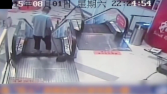 Another Escalator Accident In China Results In A Man Getting His Leg Amputated