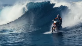Motorbike Surfing And More Wild Ways To Get In The Water Before Summer Ends