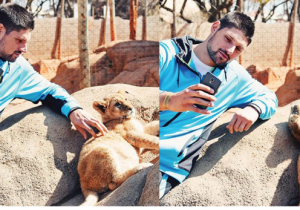 Here's Orlando Magic Center Nikola Vucevic Taking Selfies With Lion Cubs
