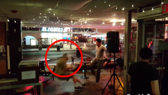 Watch A Comedian Unleash A Devastating Kick To This Heckler's Stomach