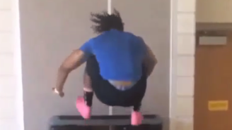 Football Player DeVonte Wilson Shows Off His Vertical With These Insane Box Jumps
