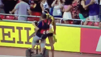 Watch Usain Bolt Get Completely Steamrolled By A Segway Dude At The World Championships