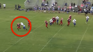 Watch The Houdini Of Pee-Wee Quarterbacks Turn A Sack Into A Touchdown
