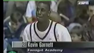 Watch A Teenage Kevin Garnett Throw Up Bricks In The McDonalds 3-Point Shootout
