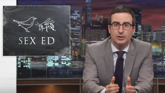 John Oliver Reforms Sex Education With Help From Nick Offerman And Friends