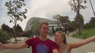 Watch This Adorable Couple High Five All Over Singapore