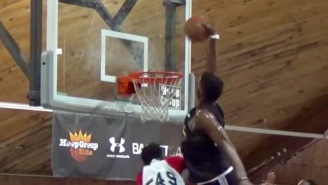 Class Of 2018 Star Silvio De Sousa Climbs The Ladder For An UNREAL Tip Dunk