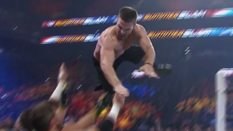 Watch Stephen Amell Take To The Sky In His WWE Debut