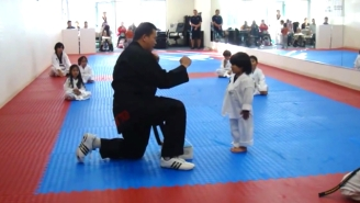 This Adorable Boy Fails Hilariously At Breaking A Taekwondo Board, Gets An A+ For Effort