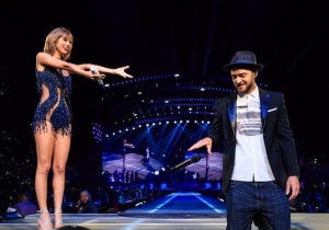 Justin Timberlake And Selena Gomez Performed 'Mirrors' And 'Good For You' With Taylor Swift