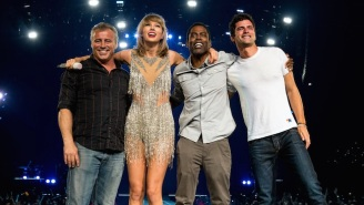 Taylor Swift Took The Stage With Chris Rock, Matt LeBlanc, Uzo Aduba, And Mary J. Blige