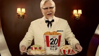 When did Colonel Sanders get so incredibly creepy?