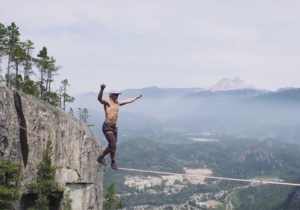 Watch This Nerve-Racking World Record Slack Line Attempt And Feel The Madness