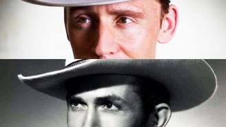 Yup, Tom Hiddleston sure does look like Hank Williams
