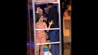 Karl-Anthony Towns Squeezes Into A Phone Booth With Kevin Spacey On The Tonight Show