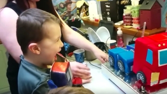 This Little Boy's Optimus Prime Cake Really 'Transforms' Into An Awesome Birthday