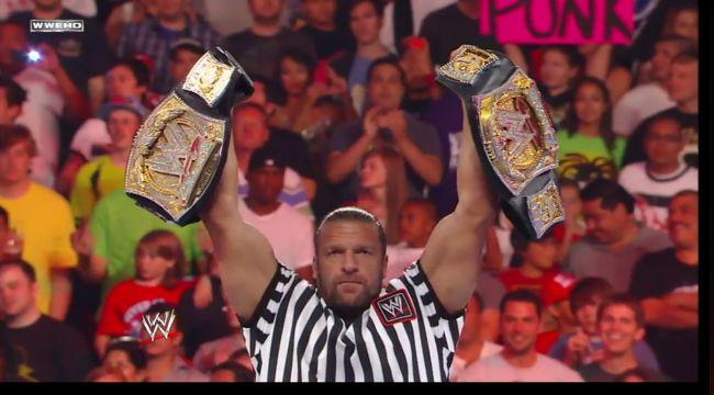 Triple H two titles 2011