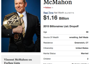 Vince McMahon Is A Billionaire Again, And We Keep Pretending WWE's In Trouble