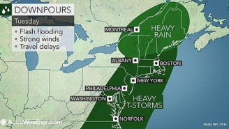 Yo, Check Out The Huge Penis On This Weather Map