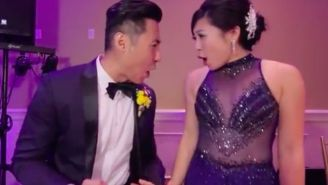 This Fun Couple Shot A One-Take Music Video At Their Wedding Reception With All Of Their Guests