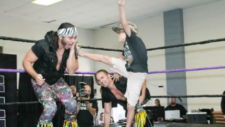 Watch The Young Bucks Superkick A Little Kid Because Wrestling Rules