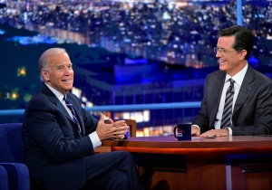 Stephen Colbert does his first great 'Late Show' interview with Joe Biden