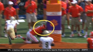 A Clemson Wide Receiver Injured His Neck After Falling Into The Goal Post